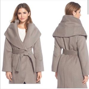 Elie Tahari Oversize Wool Blend Wrap Coat